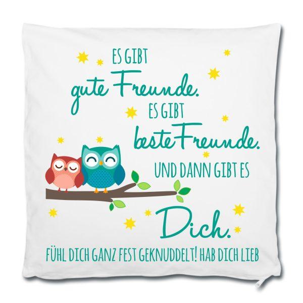 Dekokissen Kissen Es gibt Freunde und es gibt Dich Eule