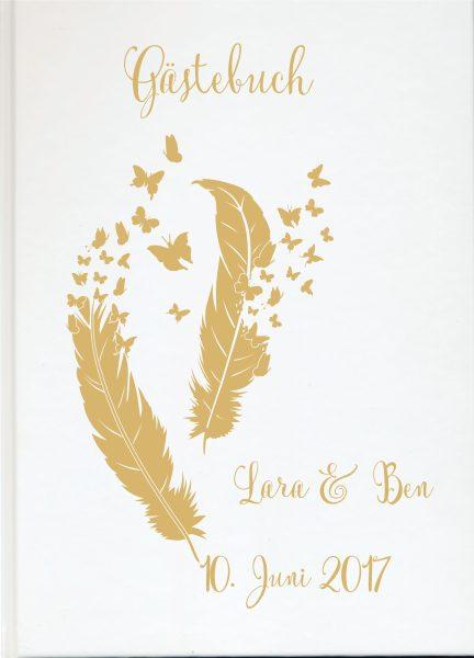 Personalisiertes Gästebuch für Ihre Hochzeit (Motiv 56)