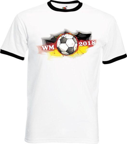 Herren T-Shirt WM 2018 Motiv 7 Fußball