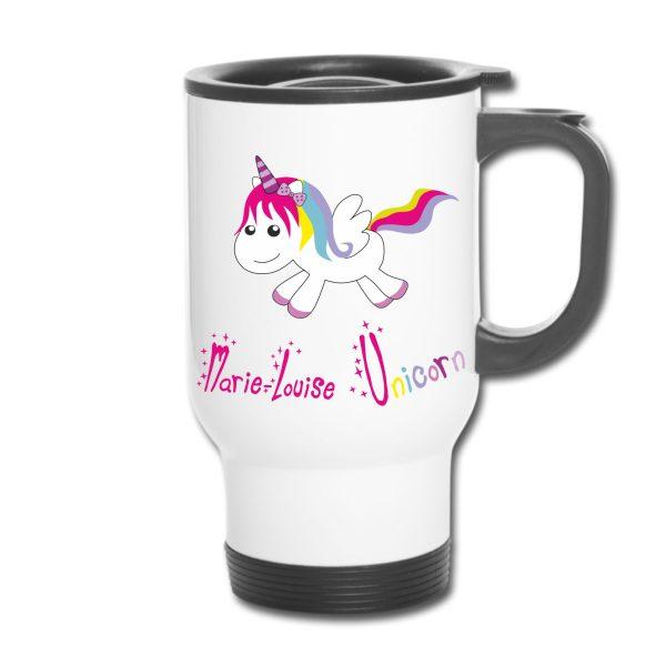 Thermobecher - Einhorn Unicorn happy