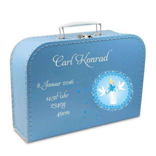 Geschenkkoffer blau Flasche