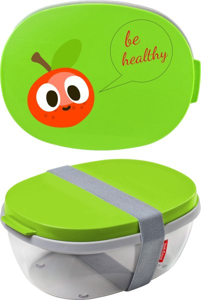 Salatbox Ellipse Lime Be healthy