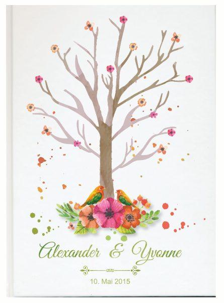 Personalisiertes Gästebuch für Ihre Hochzeit (Motiv 28)