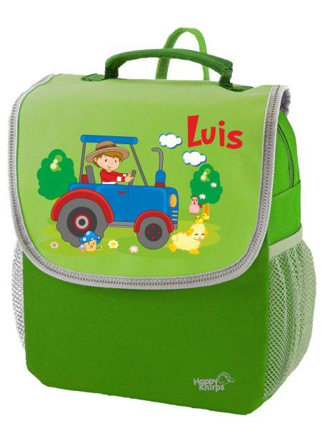 Kindergartenrucksack Happy Knirps NEXT Mit Name, Grün Motivauswahl