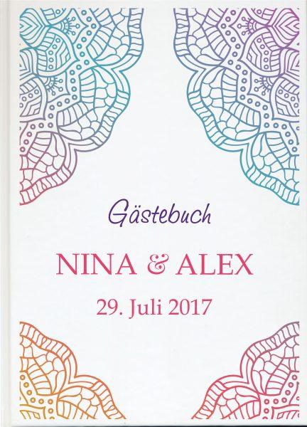 Personalisiertes Gästebuch für Ihre Hochzeit (Motiv 52)