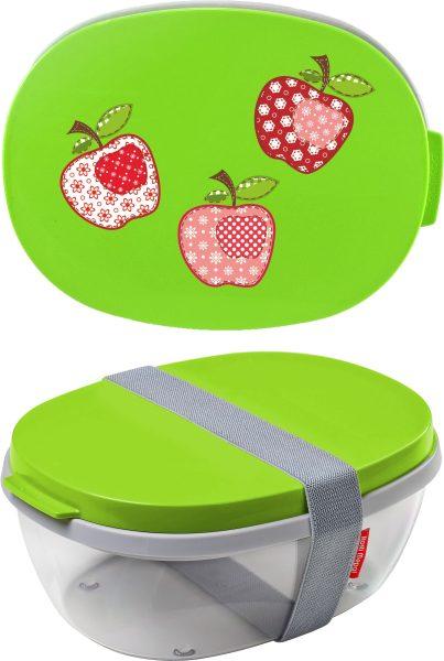 Salatbox Ellipse Lime Äpfel