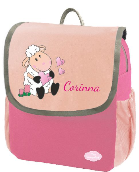 Kindergartenrucksack Happy Knirps NEXT mit Name Pink Schaf
