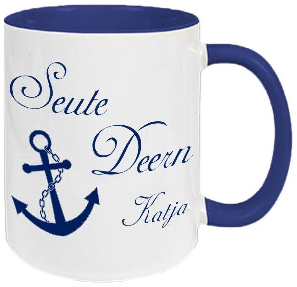 Tasse Navy Maritim Anker Seute Deern