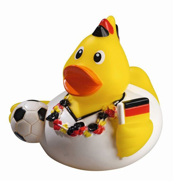 Quietsche-Ente Quietscheente Badeente Fußball WM EM Fan