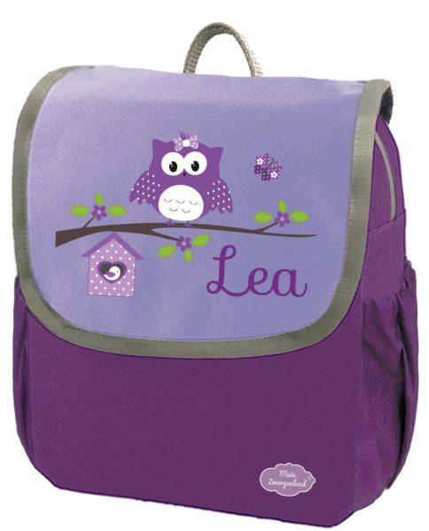Kindergartenrucksack Happy Knirps NEXT mit Name Lila Happy Eule