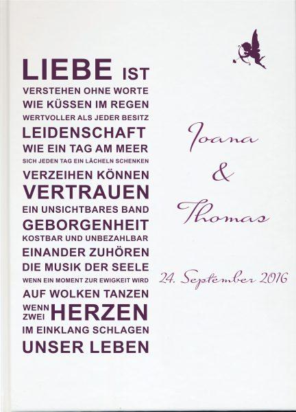 Personalisiertes Gästebuch für Ihre Hochzeit Liebe Ist Schwarz