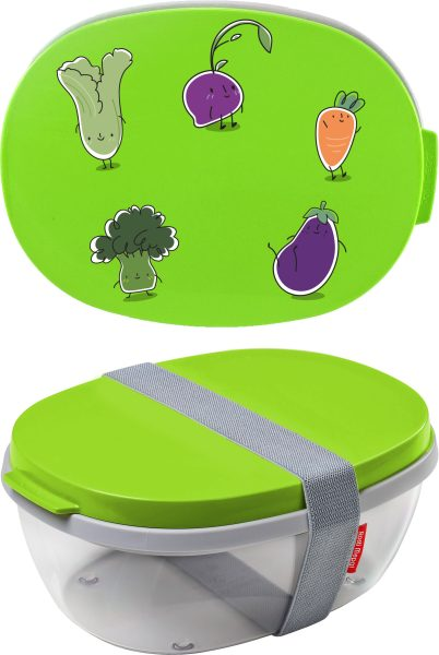 Salatbox Ellipse Lime Gemüse