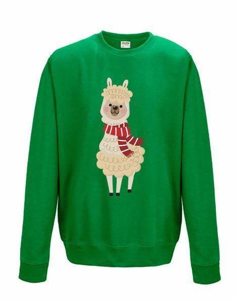Sweatshirt Shirt Pullover Pulli Unisex Weihnachten Winter Lama