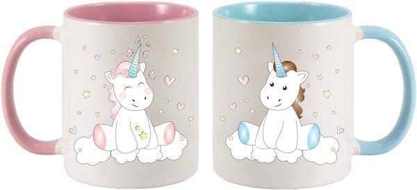 Tassen Twinset rosa & blau - Unicorn Einhorn cutie