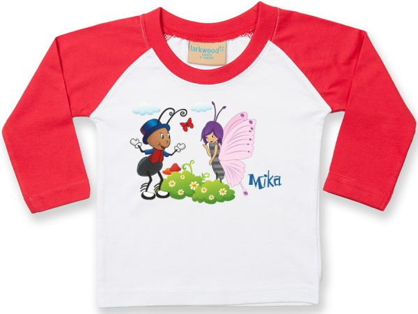 Baby Langarmshirt im Baseballdesign