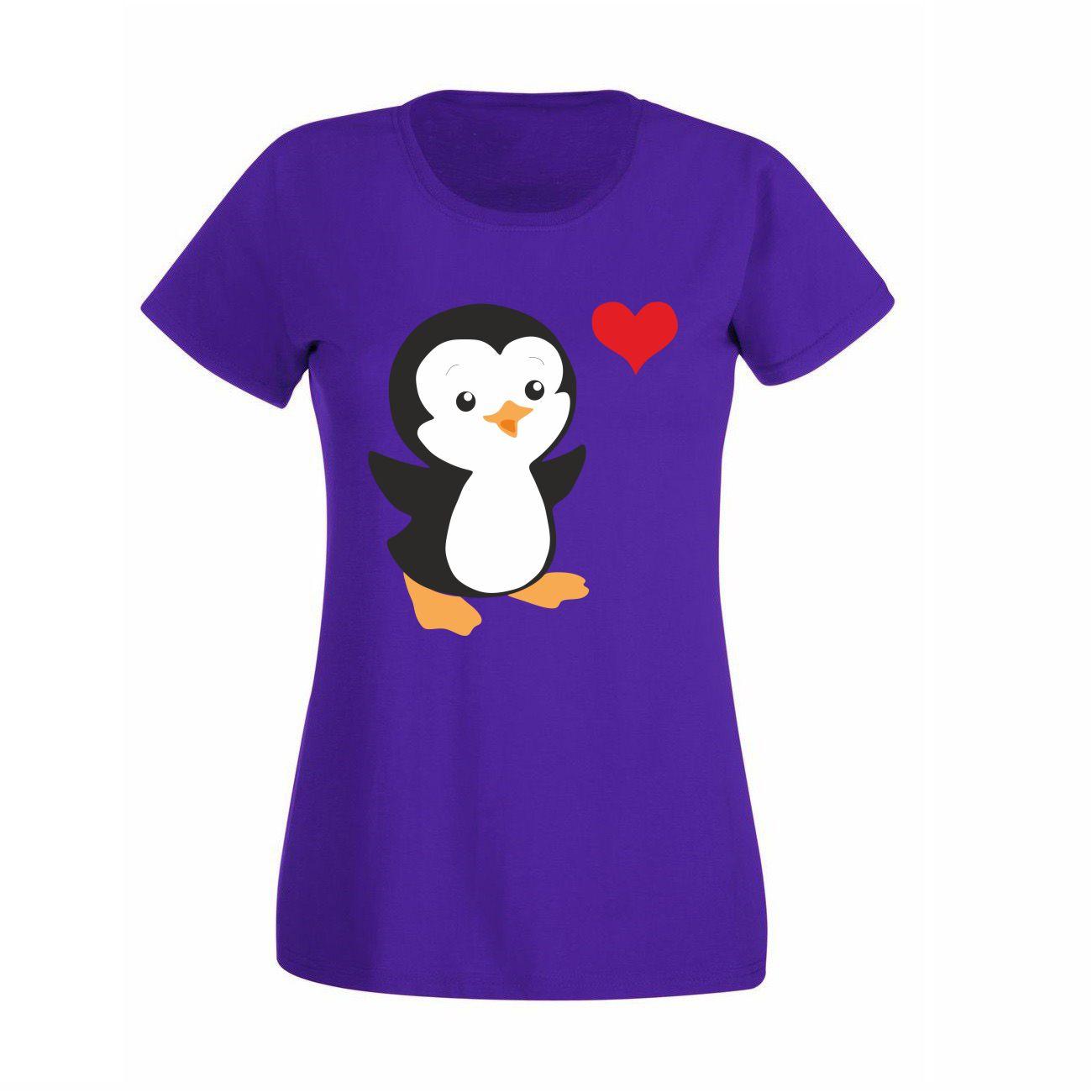 Damen T-Shirt Pinguin | T-Shirts | Bekleidung | Erwachsene |  Mein-Zwergenland