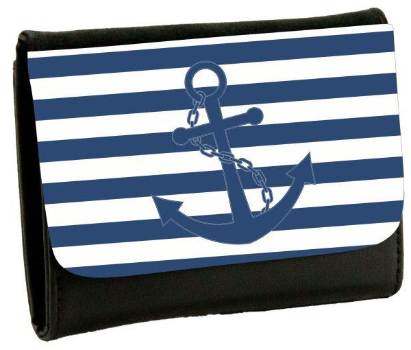 Geldbeutel Portemonaie Maritim Nautical Anker streifen