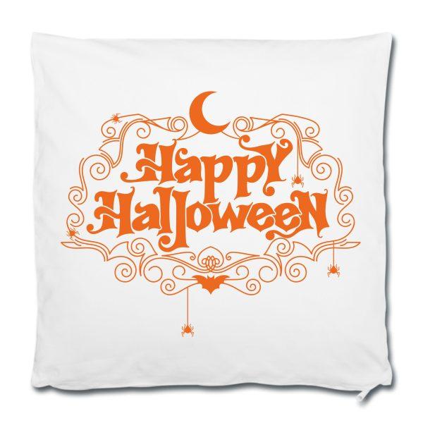 Dekokissen Kuschelkissen Happy Halloween orange