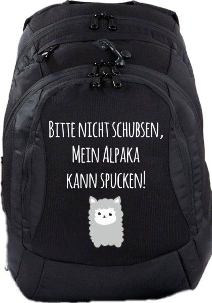 Schulrucksack Teen Compact Bitte nicht schubsen, mein Alpaka kann spucken!