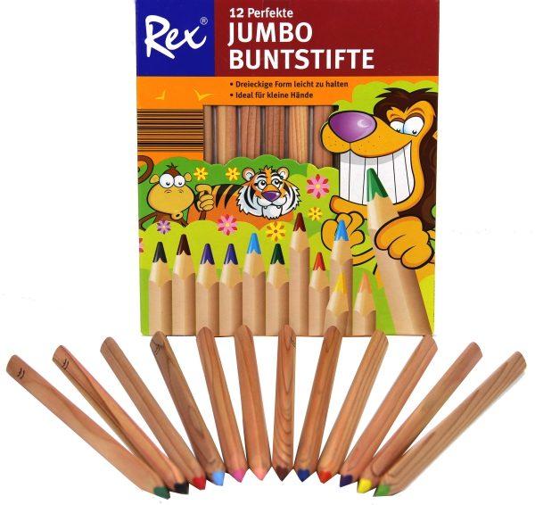 Buntstifte Jumbo mit Namen und Wunschmotiv