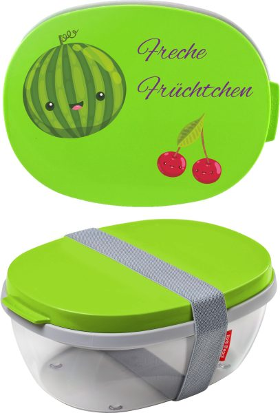 Salatbox Ellipse Lime Freche Früchtchen