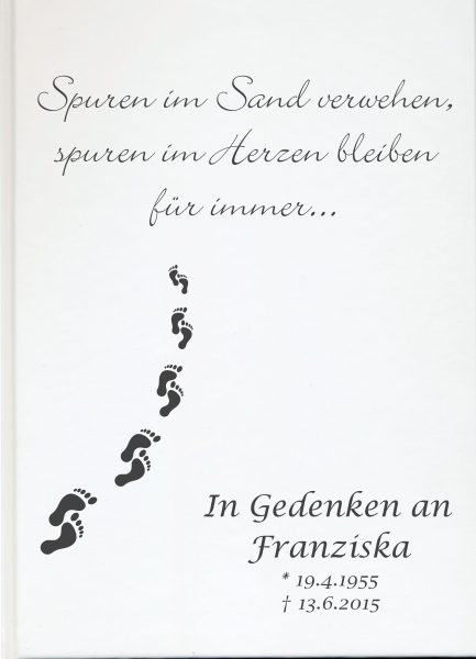 Fotoalbum Erinnerungsbuch Spuren im Sand
