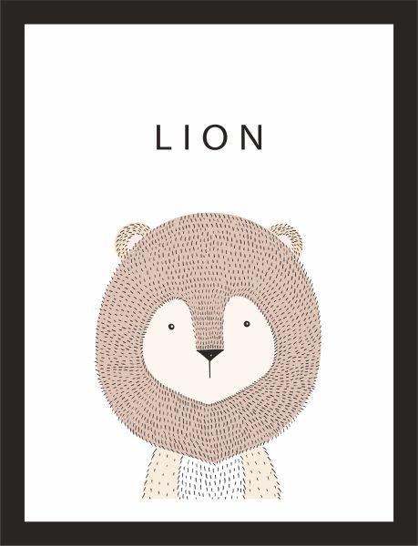 Kunstdruck Löwe