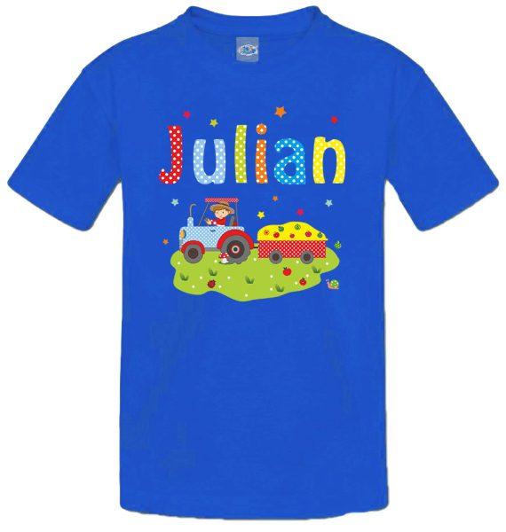 Kinder T-Shirt Bauernhof Traktor