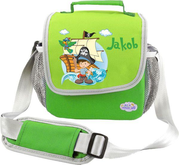 Kindergartentasche Happy Knirps grün Pirat