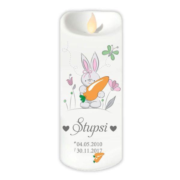 LED Kerze Twinkle für Tiere Hase mit Karotte