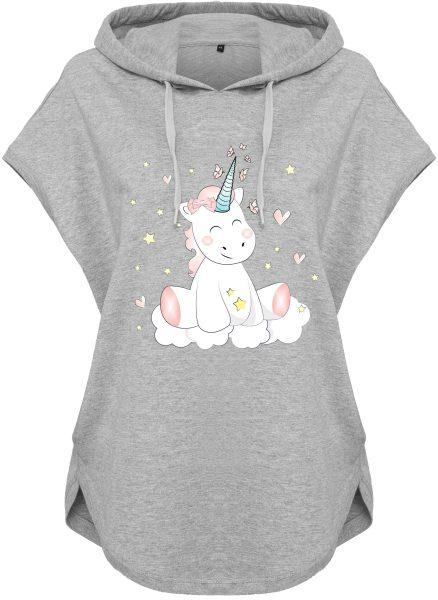Kawaii Hoodie Kapuzenhoodie für Damen Einhorn Cutie