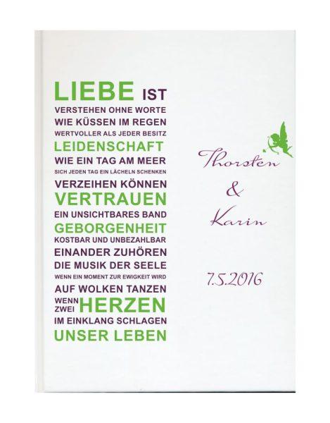 Personalisiertes Gästebuch für Ihre Hochzeit (Motiv 64)