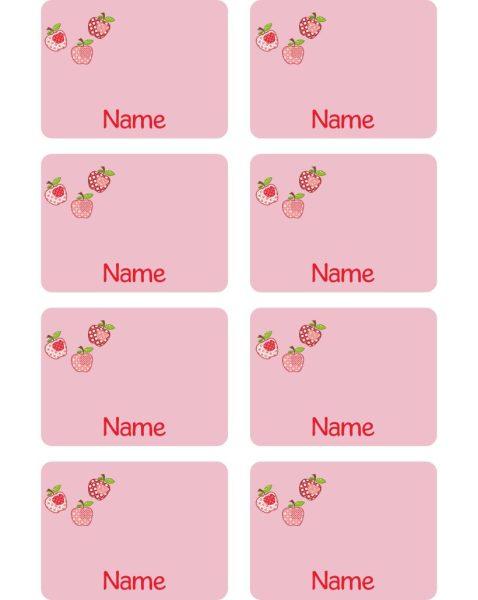 Heftaufkleber mit Linien 3 Äpfel