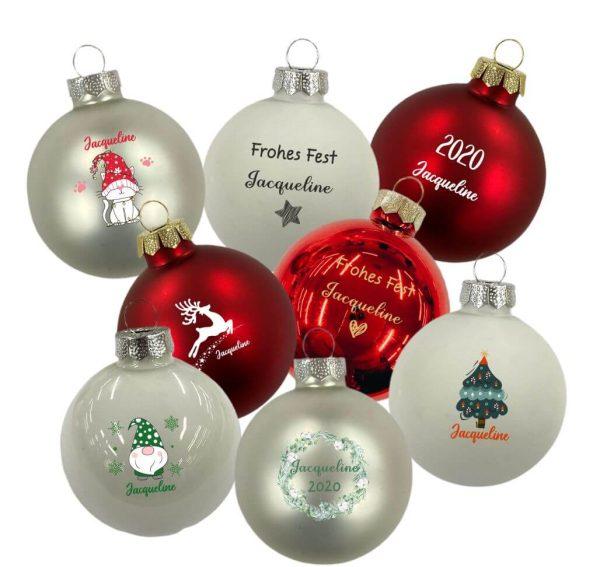 Personalisierte Weihnachtskugel Glaskugel Weihnachten
