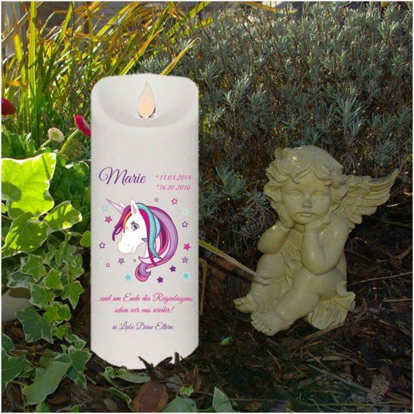 LED Kerze Twinkle Sternenkind Einhorn Beauty