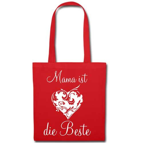 Stofftasche Muttertag Rot