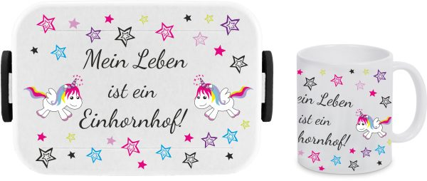Brotdose Rosti Mepal Lunchbox Big Take A Break large + Tasse - Einhornhof