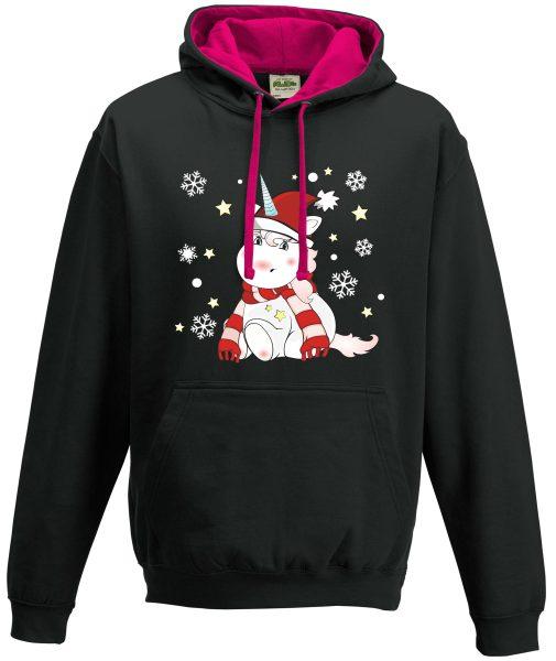 Kapuzenpullover Pullover Hoodie Christmas Weihnachten Unicorn Einhorn cutie xmas