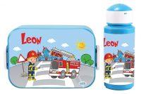 """Brotzeitset """"Feuerwehr"""" Lunchbox Maxi Take A Break midi + Pop-up Flasche"""
