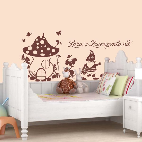 wandtattoo mein zwergenland baby motive wandtattoos und m belsticker dekoration mein. Black Bedroom Furniture Sets. Home Design Ideas