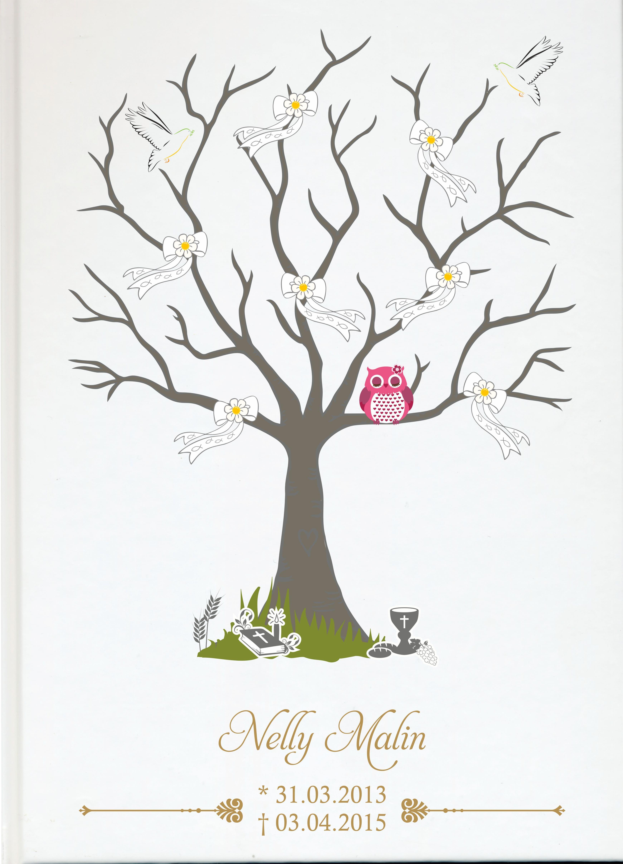 Fotoalbum Sternenkind Baum Mit Schleifen Und Rosa Eule Bucher