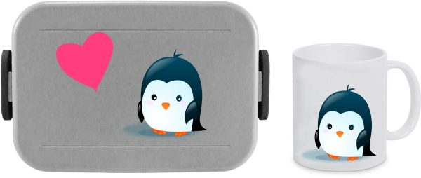 Bento Brotdose Take A Break Large - Tasse - Pinguin Herz