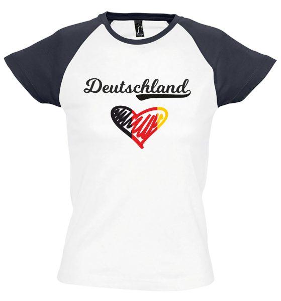 Damen T-Shirt Milky EM 2021 Motiv 10 Herz