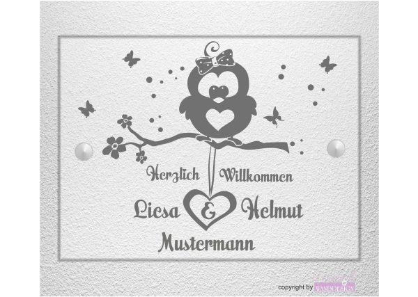 Personalisiertes Schild Hausschild Wohnung Hausnummer Motiv 02