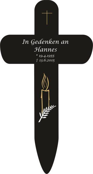 Grabkreuz Kerze