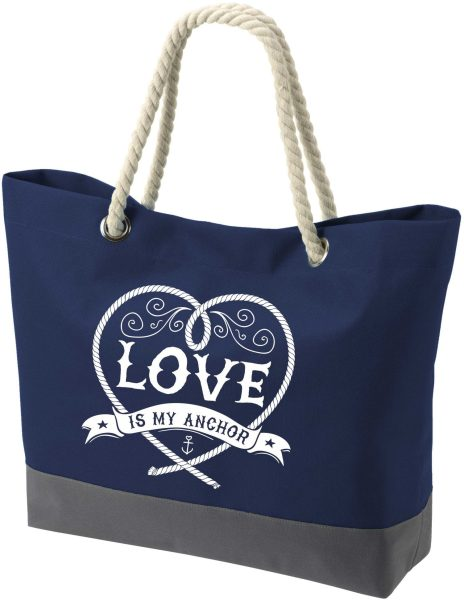 Shopper Bag Einkaufstasche Maritim Nautical Love