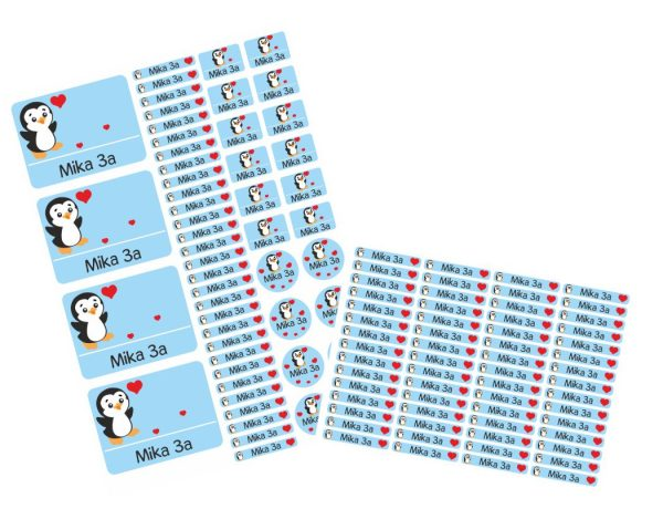 Set Stickerbogen + 60 Namensetiketten