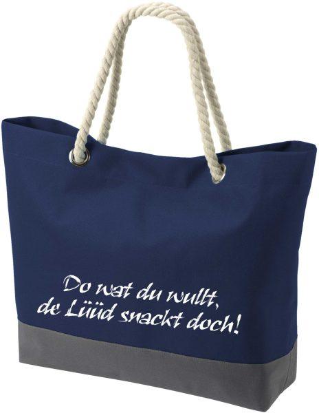 Shopper Bag Einkaufstasche Maritim Nautical de Lüüd schnack
