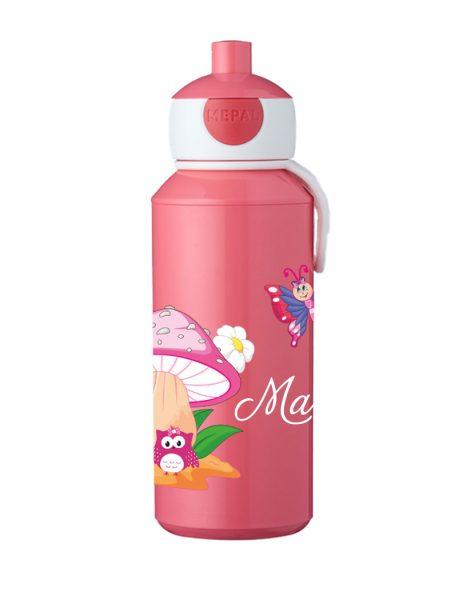 Trinkflasche Mepal Campus Pop-Up Rose Eule mit Pilz