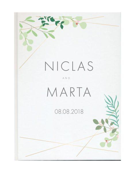 Personalisiertes Gästebuch für Ihre Hochzeit (Motiv 62)